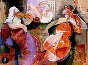 """Irene Sheri Handsigned & Numbered Limited Edition Giclee on Canvas:""""Trio"""""""