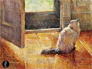 """Jan Saia Limited Edition Embellished Giclee on Canvas:""""Wishful Thinking"""""""