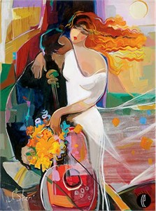 "Irene Sheri Handsigned & Numbered Limited Edition Giclee on Canvas:""Wind of Passion"""