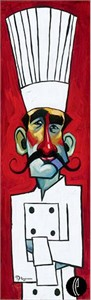 "Tim Rogerson Handsigned and Numbered Embellished Giclee on Canvas:""No Soup For You"""