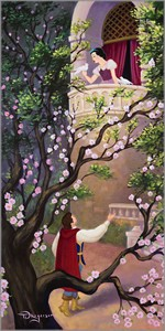 "Tim Rogerson Artist Signed and Numbered Limited Edition Giclee on Canvas:""Where Art Thou Snow White?"""