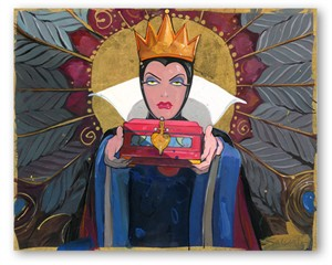 """Mike Kupa Handsigned and Numbered Limited Edition Giclee on Canvas: """"Princess Suite -  Snow White """""""