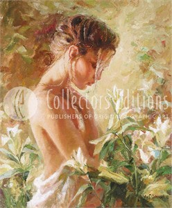 "Garmash Limited Edition Embellished Giclee on Canvas :""Lost in Lillies """