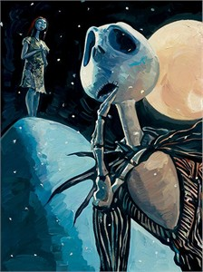 "Jim Salvati Limited Edition Giclee on Canvas: ""We're Simply Meant To Be (Nightmare Before Christmas )"""