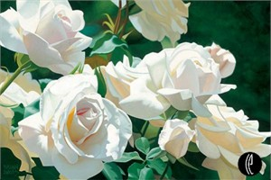 "Brian Davis Handsigned and Numbered Limited Edition Giclee on Canvas:""French Lace Garden"""