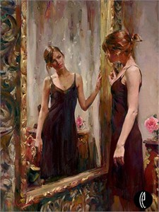 """Garmash Handsigned & Numbered Limited Edition Embellished Giclee on Hand Textured Canvas:""""Timeless Beauty"""""""