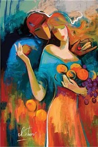 "Irene Sheri Handsigned and Numbered Limited Edition Embellished Giclee on Canvas: ""Sweet Harvest"""