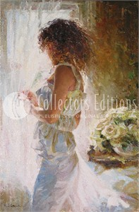 "Garmash Limited Edition Embellished Giclee on Canvas :""Waiting For Love """
