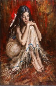"Andrew Atroshenko Handsigned and Numbered Framed Limited Edition Giclee on Canvas:""Shimmering Light"""