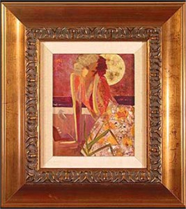 "Sabzi Handsigned and Numbered Framed Limited Edition Giclee on Canvas:""The Tropic Night"""