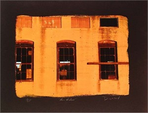 "Tim Dickson Handsigned and Numbered Limted Edition Chiarograph on Paper:""Napa Windows"""