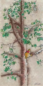 "Dick Duerrstein Artist Signed and Numbered Limited Edition Embellished Giclee on Canvas: ""Hunny Tree -Winnie the Pooh """