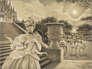"""Edson Campos Hand Signed and Numbered Limited Edition Giclee on Paper:""""Escape Before Midnight"""""""