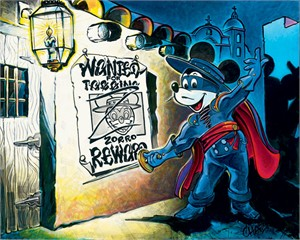 "Chaz Hand Signed and Numbered  Limited Edition Disney Gallery Wrap Canvas Giclee:""The First Tagger"""