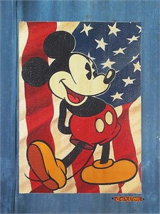 "Disney Fine Art Holiday Collection: Independence Day by Trevor Carlton: "" Red, White and Blue Jeans"""