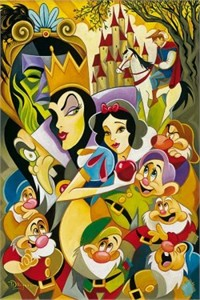 """Tim Rogerson  Handsigned and Numbered Limited Edition Embellished  Canvas Giclee: """"The Enchantment of Snow White"""""""
