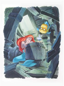 "Mike Perazza Hand Signed and Numbered Giclee on Paper:""First in the Collection - The Little Mermaid """