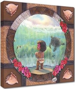 """Rodel Handsigned and Numbered Limited Edition Disney Fine Art Canvas Giclee:""""Where a Million Diamonds Shine"""""""