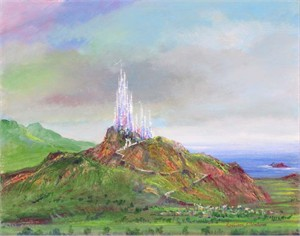 "Harrison Ellenshaw Handsigned and Numbered Limited Edition Disney Fine Art Canvas Giclee:""Castle Rock"""