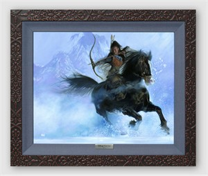 "Disney Framed Limited Edition Canvas Giclee:""The Point of Her Arrow"" by John Rowe"