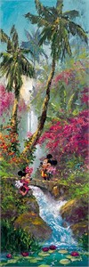 "James Coleman Handsigned & Numbered Limited Edition Hand Embellished  Canvas Giclee: ""Island Afternoon (Mickey Mouse)"""