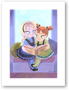 "Victoria Ying Signed and Numbered Giclée on Archival Watercolor Paper:""Sisters- Frozen"""