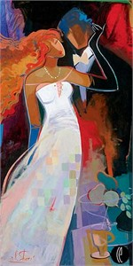 "Irene Sheri Handsigned and Numbered Limited Edition Embellished Giclee on Canvas:"" A Special Day"""
