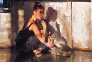 """Michael & Inessa Garmash  Hand Signed and Numbered Limited Edition Embellished Giclee on Canvas:""""State of Grace"""""""