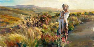 "Michael & Inessa Garmash Handsigned and Numbered Limited Edition Pallet Knife Textured Giclee on Canvas: ""Promise"""