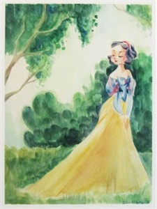 "Victoria Ying Signed and Numbered Giclée on Archival Watercolor Paper:""The Beauty of Snow in the Spring"""