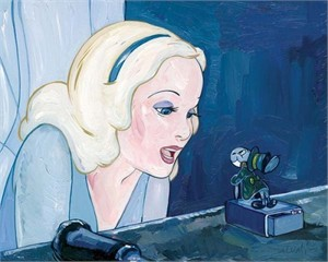 "Jim Salvati Handsigned and Numbered Limited Edition Giclee on Canvas:""Blue Fairy"""