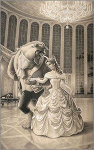 "Edson Campos Hand Signed and Numbered Limited Edition Giclee on Paper:""A Dance with Beauty"""