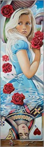 "Edson Campos Hand-Embellished Limited Edition Canvas Giclee:""Reflections of Wonderland"""