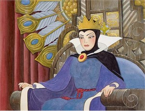 """Toby Bluth Disney Fine Art Limited Edition Giclee on Paper:""""Face of Evil"""""""