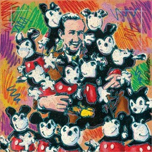"Dick Duerrstein Disney Fine Art Limited Edition Giclee on Canvas:""Walt and Friends"""