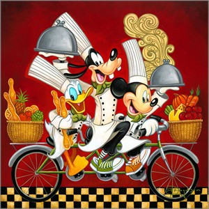 "Tim Rogerson Gallery Wrap Limited Edition Canvas Giclee:""Wheeling with Flavor"""