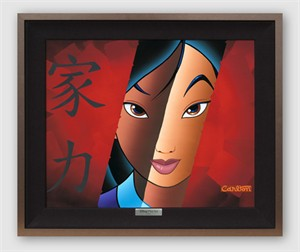 "Disney Framed Limited Edition Canvas Giclee:""Who I Am Inside"" by Trevor Carlton"