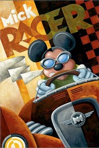 "Mike Kungl Limited Edition Giclee on Canvas: ""Mick Racer"""