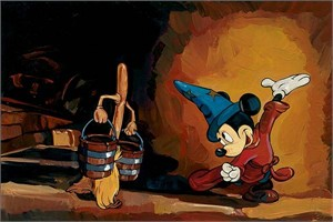 "Jim Salvati Limited Edition Giclee on Canvas: ""The Sorcerer's Apprentice"""