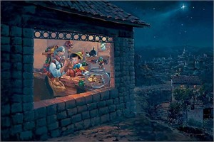 "Rodel Gonzalez Limited Edition Giclee on Canvas:""The Wishing Star - Pinocchio"""
