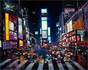 """James C. Mulligan Signed and Numbered Limited Edition Hand-Embellished Giclée on Canvas:""""Life's a Stage"""""""