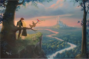 """Rob Kaz Signed and Numbered Hand-Embellished Giclée on Canvas: """"Our Royal Kingdom"""""""