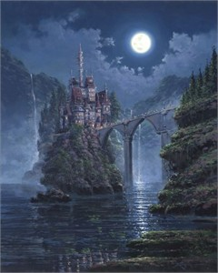"Rodel Gonzalez Signed and Numbered Hand-Embellished Giclée on Canvas: ""Siege on Beast's Castle"""