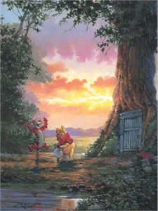 """Rodel Gonzalez Signed and Numbered Giclée on Canvas: """"Good Morning Pooh"""""""