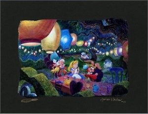 "Harrison Ellenshaw Signed and Numbered Limited Edition: ""Mad Hatter's Tea Party"""