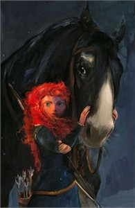 """Jim Salvati Signed and Numbered Giclée on Canvas: """"Willful Daughter (Sm)"""""""