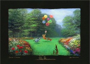 """Peter & Harrison Ellenshaw Signed and Numbered H/E Ciarograph on Paper: """"Rescuing Piglet (Deluxe)"""""""
