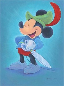 """Bret Iwan Signed and Numbered Giclée on Canvas: """"Happy Hero"""""""