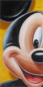"Bret Iwan Signed and Numbered Hand-Textured Giclée on Canvas : ""Facking Mickey"""