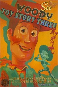"Jody Daily Signed and Numbered Giclée on Paper : ""See Woody in Toy Story 3"""